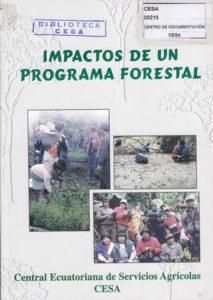Impactos de un programa forestal. CESA 1998
