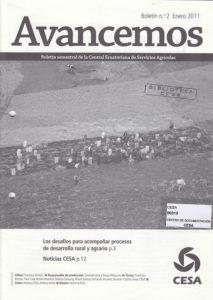 Avancemos. Boletín semestral de CESA No. 2. Enero 2011. Los desafíos para acompañar procesos de desarrollo rural y agrario. CESA 2011