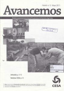 Avancemos. Boletín semestral de CESA No. 3. Mayo 2011. Artículos. Noticias CESA. CESA 2011