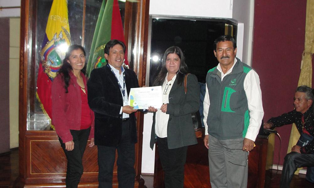 CESA reconocida por la Senangua - Cotopaxi