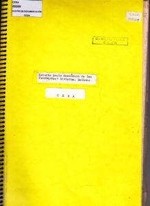 Estudio Socio-económico de las parroquias: Simiatug y Salinas, provincia de Imbabura. CESA 1972