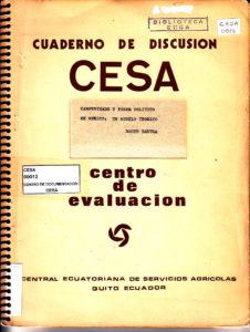 Campesinado y poder político en México: Un modelo teórico. Serie 1: Problemas agrarios. Cuaderno de discusión No. 2. CESA 1974