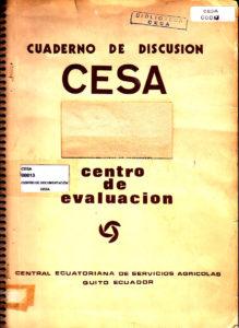 Articulaciones de modos de producción y campesinado en América Latina. Serie 1: Problemas agrarios. Cuaderno de discusión No. 3. CESA 1974
