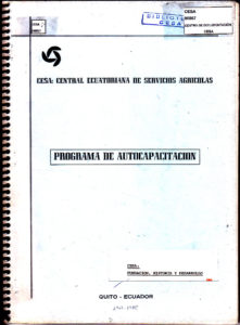 Programa de autocapacitación. CESA: Fundación, historia y desarrollo. 1967-1985.