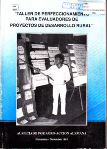 Taller de perfeccionamiento para evaluadores de proyectos de desarrollo rural. CESA 1991