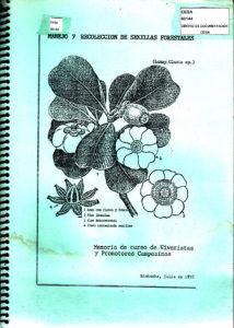 Manejo y recolección de semillas forestales. Memoria de curso de viveristas y promotores campesinos. CESA 1992