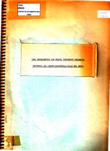 Tres experiencias con fréjol (Phaseolus vulgaris), provincia del Carchi, Mascarilla- Valle del Chota. CESA 1976