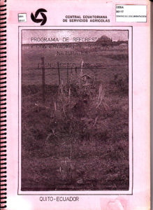 Programa de reforestación y conservación de recursos naturales. Plan rector 1990-1992. CESA 1992