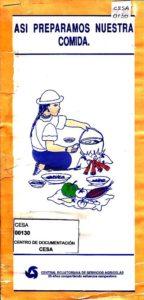 Así preparamos nuestra comida. CESA 1992