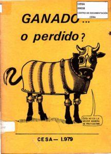 Ganado…. o perdido?. CESA 1979