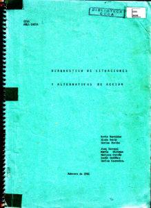 Diagnóstico de situaciones y alternativas de acción CESA-Área Chota. CESA 1981