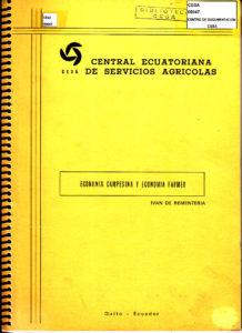 Economía campesina y economía Farmer. CESA 1982