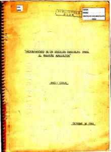 Mejoramiento de los servicios agrícolas para el pequeño agricultor. FAO-CESA. CESA 1983