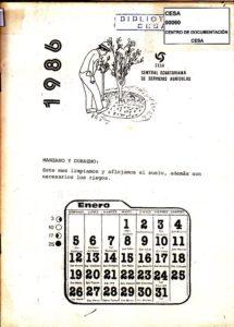 Manzano y durazno. CESA 1986