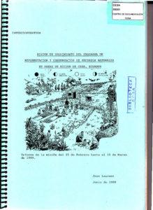 Misión de seguimiento del Programa de reforestación y conservación de recursos naturales en áreas de acción de CESA-Ecuador. CESA 1989.
