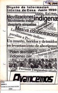 Órgano de información interno de CESA, junio 1990. Avancemos edición extraordinaria. CESA 1990