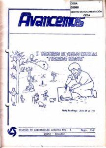 CESA. Boletín de información interna. Avancemos No.5. CESA 1991