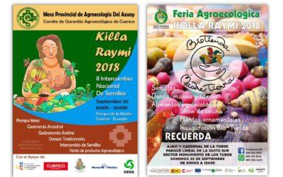 CESA EN LAS V JORNADAS AGROECOLÓGICAS ECUADOR 2018