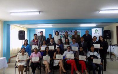 Escuela de Liderazgo y Emprendimientos, culminación de un proceso de capacitación, inicio de nuevos sueños